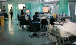 The intensive care unit at the Royal Berkshire hospital in Reading.