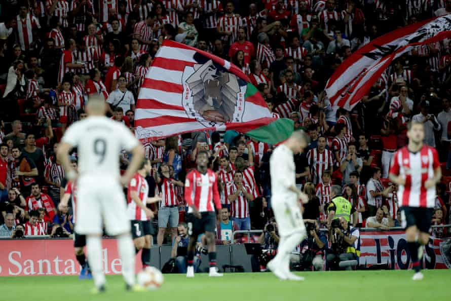 Athletic fans during the match.