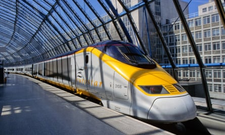The Eurostar at the platform in London.