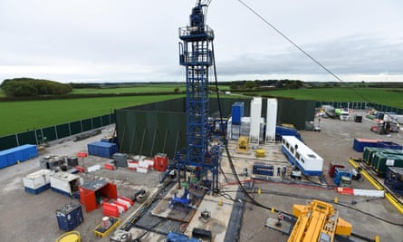Cuadrilla's hydraulic fracturing site at Preston New Road shale gas exploration site in Lancashire.