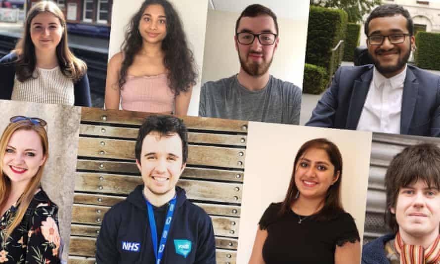 Clockwise from top left: Rachael Lewis, Janani Murugesh, Will Adams, Thines Ganeshamoorthy, Jack Welch, Mohini Samani, Ethan McLaughlin, Susannah Williams