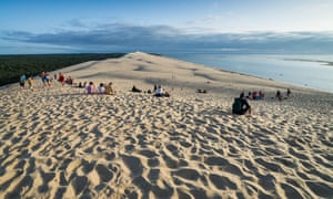 Tourists on the Great Dune of Pyla, Arcachon Bay, France