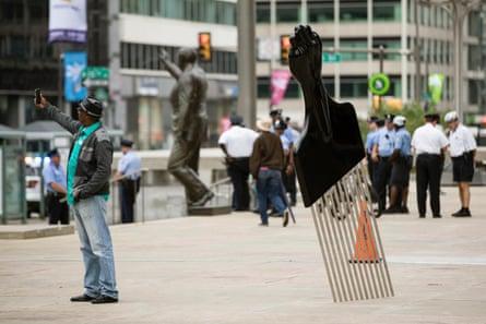 afro comb sculpture