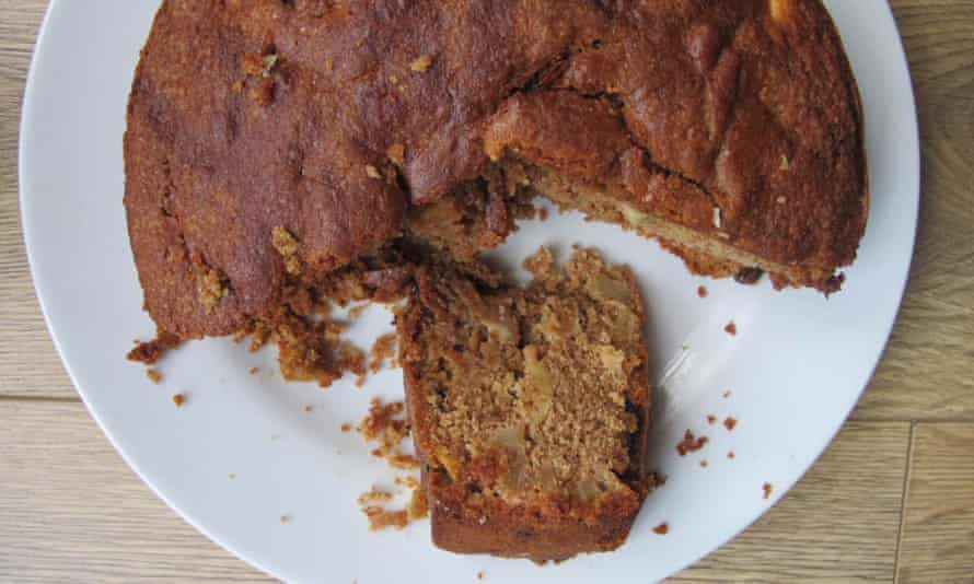 Julie Duff's apple cake, which calls for wholemeal flour,