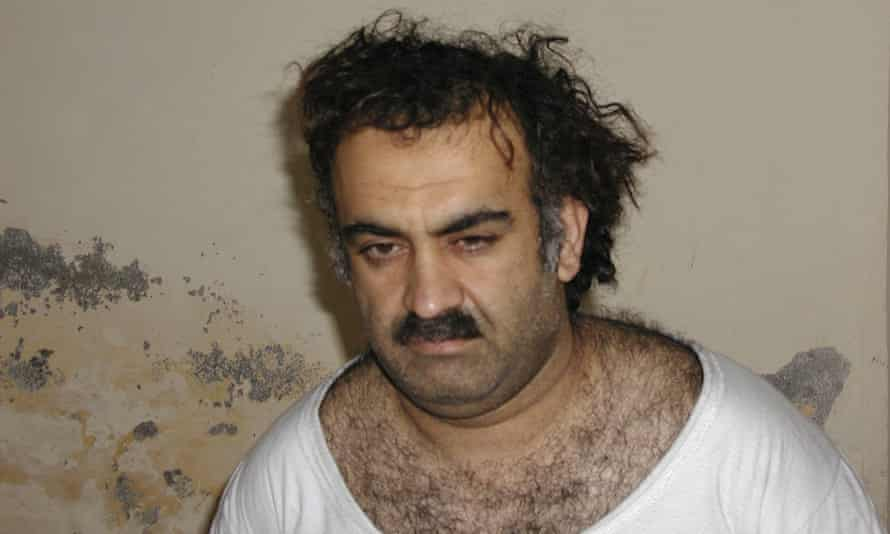 Khalid Sheikh Mohammed shortly after his capture during a raid in Pakistan, on 1 March 2003.