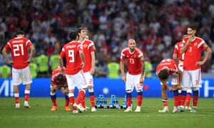 The anguish shows on the Russia players' faces after their shootout defeat to Croatia in the World Cup last 16