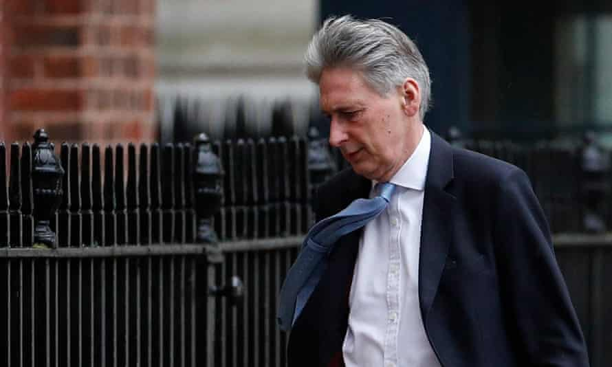 A windswept Philip Hammond in Downing Street