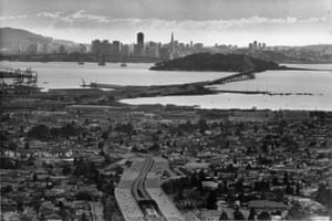 West Oakland, foreground, was a dangerous place in the 1980s.