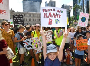 Climate change protestors in Brisbane during the global strike on 20 September.