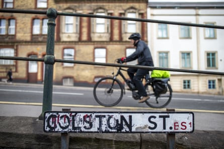 Colston Street in Bristol, named after slave trader Edward Colston.