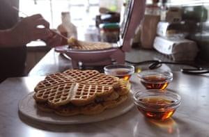 Great healer: Bee Wilson's waffles.