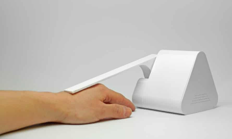 Friend 1, 2015, by Dan Chen, a desktop robot that senses stress levels, offers comfort by patting your hand, and is programmed to say: 'It'll be all right'.