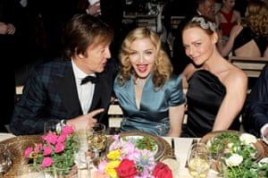 2011: Sir Paul McCartney, Madonna, and Stella McCartney at The Metropolitan Museum of Art's Costume Institute Benefit celebrating the Alexander McQueen: Savage Beauty Exhibition