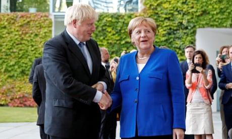 Brexit: Boris Johnson meets Merkel in Berlin as France says no deal now most likely outcome - live news