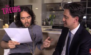Ed Miliband meeting with comedian Russell Brand, April 28, 2015.