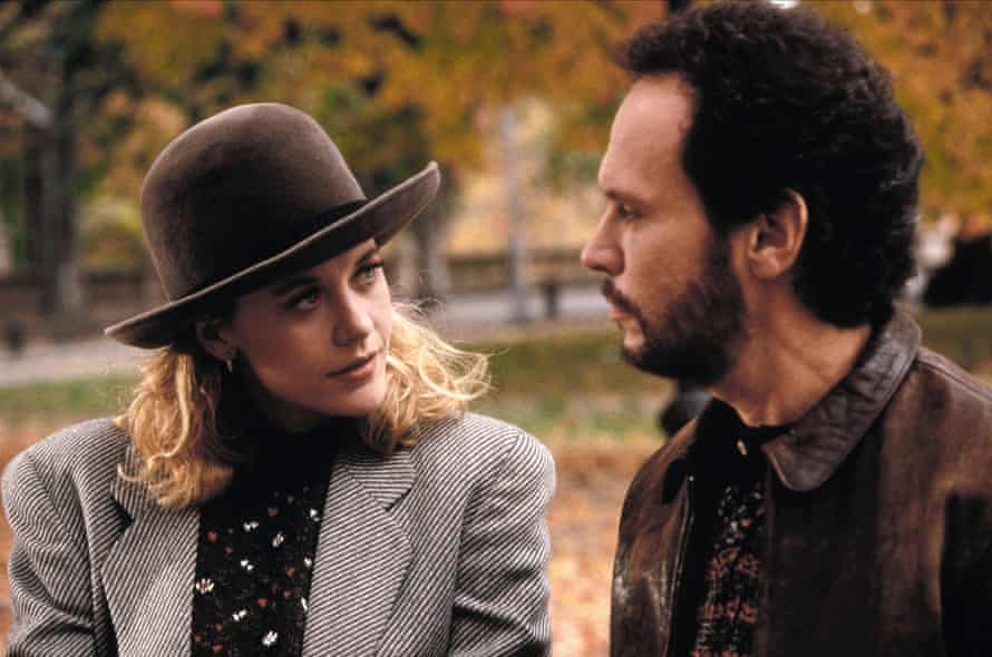 Meg Ryan and Billy Crystal in perennial NYE favourite When Harry Met Sally, which is streaming on Stan.