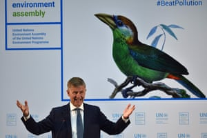UN Environment executive director, Erik Solheim gives an address at the official opening of the United Nations Environment Assembly in Nairobi, 5 December