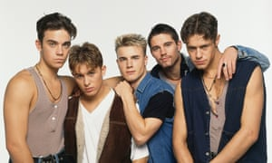 Take That in 1992 (from left): Robbie Williams, Mark Owen, Gary Barlow, Jason Orange and Howard Donald.