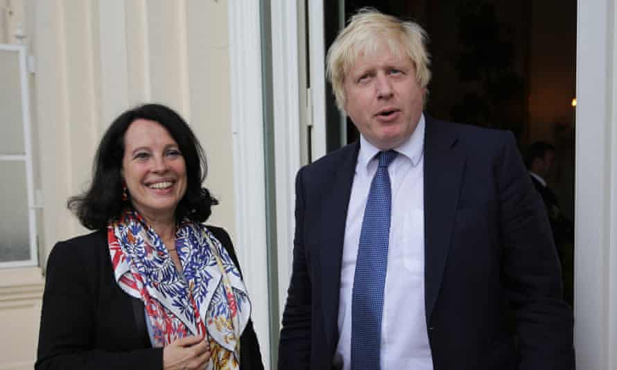Sylvie Bermann, then French ambassador to Britain, pictured in 2016 with Boris Johnson, then foreign secretary.