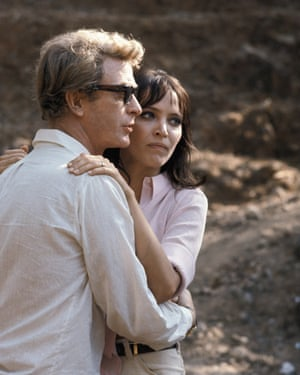 Michael Caine and Anna Karina in The Magus