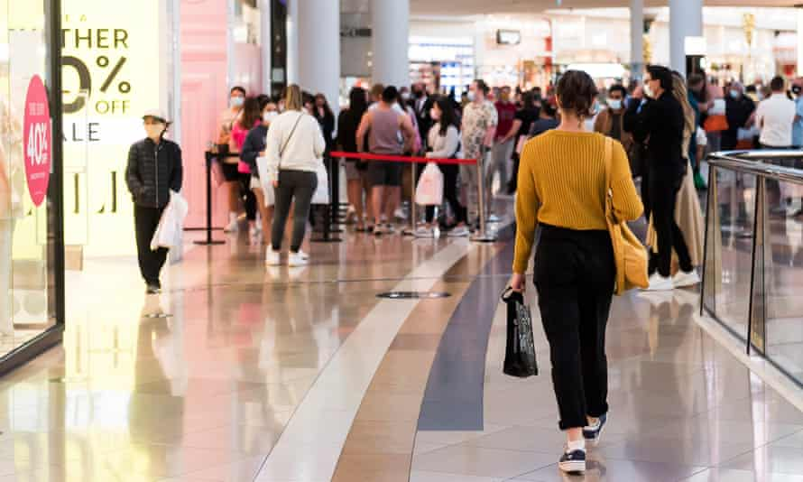 Shoppers in Melbourne