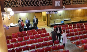 Preparations for Conway Hall event get underway…<br>