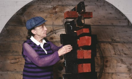 Shaping the future: sculptor Louise Bourgeois in her studio, Manhattan, 1982.