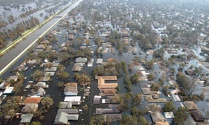 New Orleans homes swamped in 2005 after Hurricane Katrina.