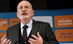Frans Timmermans, first vice-president of European Commission, said attempts to rip out the backstop or put a time limit on it were doomed to fail.
