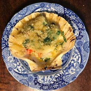 Elizabeth David's version: crunchy breadcrumbs a must.