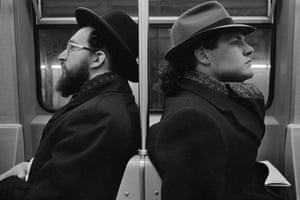 Hasid and Hipster, NYC, 2001