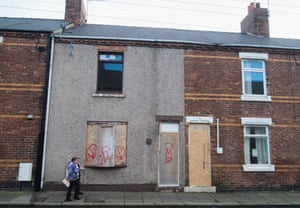 A street in Horden, Co Durham, where one local community worker estimates that 85% of the local population struggle with mental health.