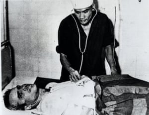 John McCain is administered to in a hospital in Hanoi North Vietnam as a prisoner of war in the fall of 1967.