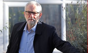 Jeremy Corbyn outside his home in Islington, north London.