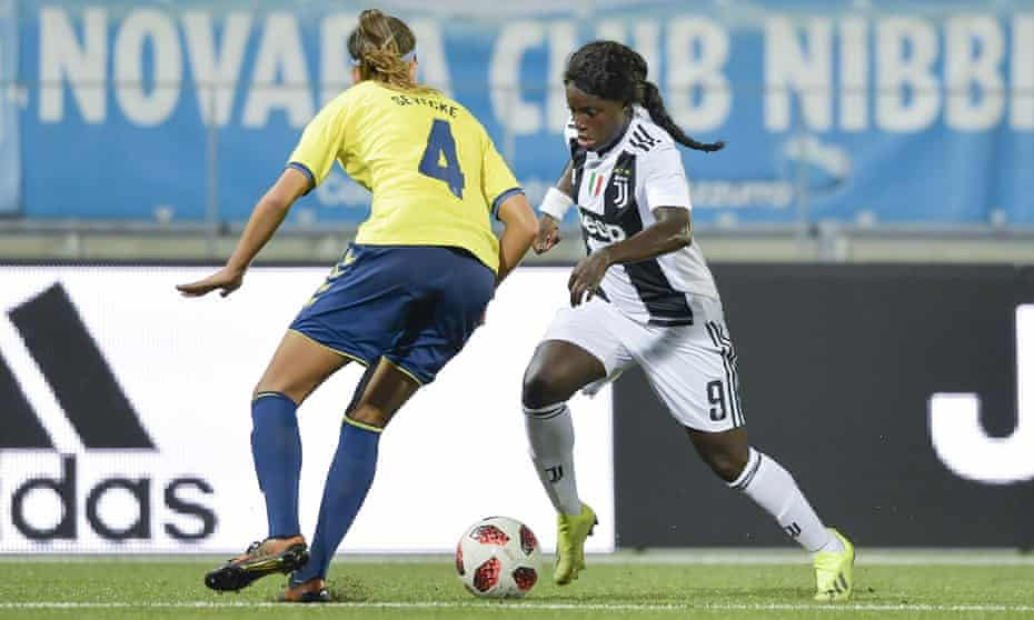 Eni Aluko playing for Juventus v Brondby