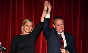 Susan Lamb and Bill Shorten claim victory in the seat of Longman on Saturday night.