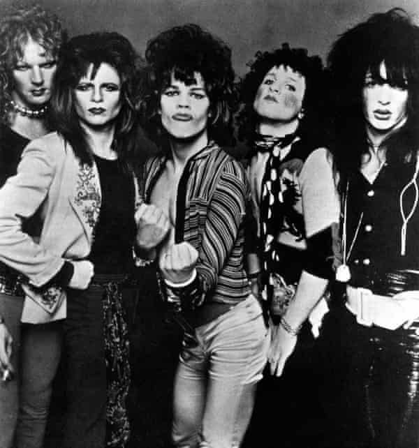 New York Dolls, with Sylvain second from right.