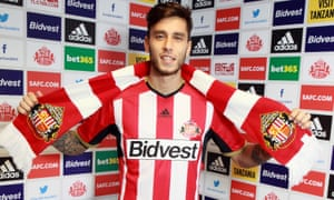 Ricky Álvarez is unveiled as a Sunderland player at the Academy of Light in September 2014.