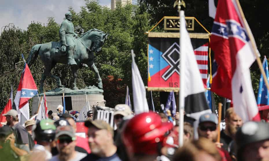 Hundreds of white nationalists, neo-Nazis and alt-right members gathered at the Unite the Right rally on August 2017 in Charlottesville, Virginia, where Heather Heyer was murdered by white supremacist James Fields.