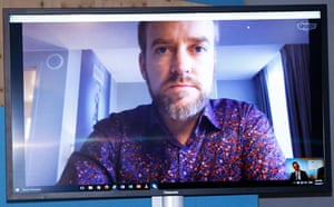 Jason Box, professor in glaciology at the Geological Survey of Denmark and Greenland, joined a session on Arctic climate change and its global impacts via video call.