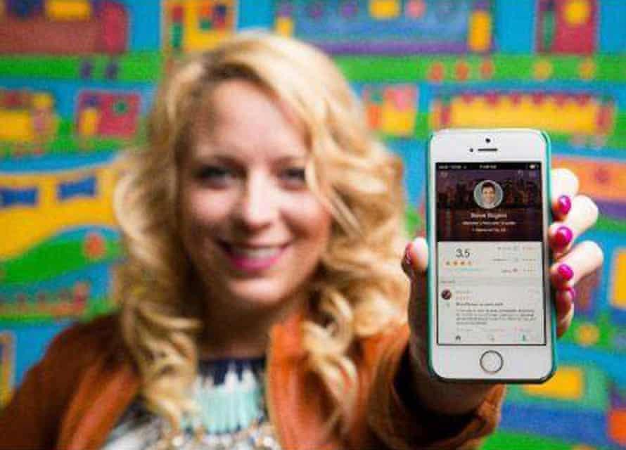 Julia Cordray promoting the app.