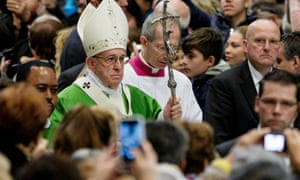 Pope Francis celebrating the special mass
