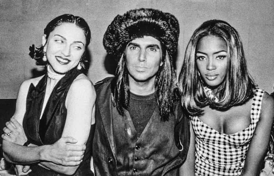 Naomi Campbell with Madonna and photographer Steven Meisel