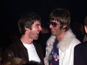 Liam, right, with his brother Noel in 2001.