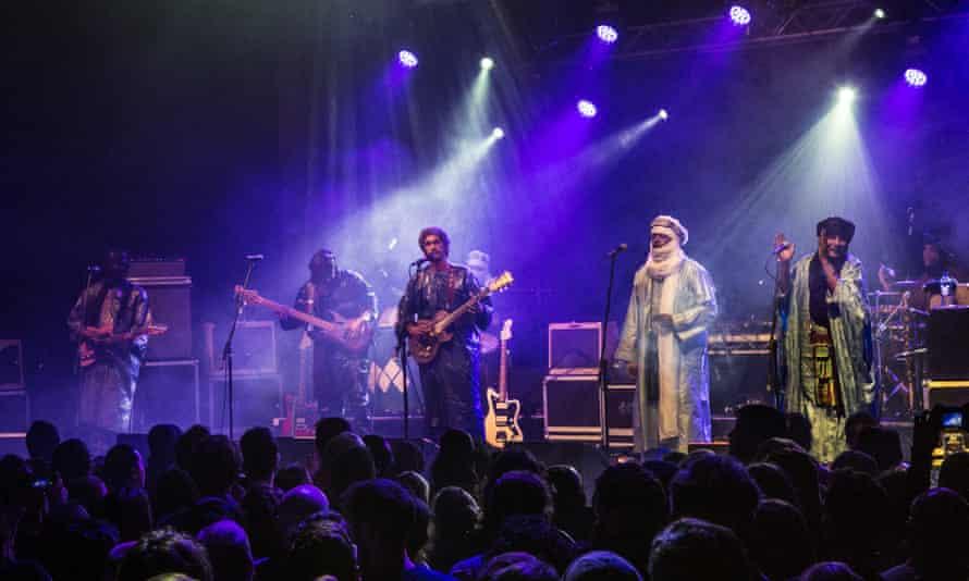 Keeping things moving … Tinariwen at the Electric, Brixton.