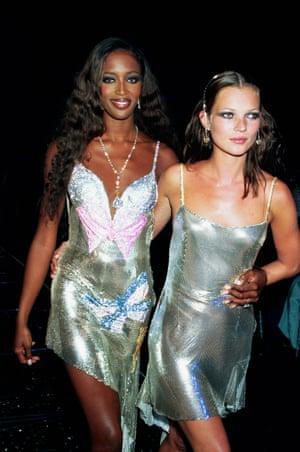 Naomi Campbell and Kate Moss at at Syon House, London, in 1999.