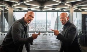 Dwayne Johnson and Jason Statham in the Fast and Furious spinoff Hobbs & Shaw.