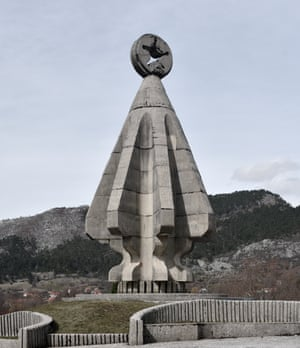Monument to the Fallen Soldiers on Sutjeska in Montenegro.