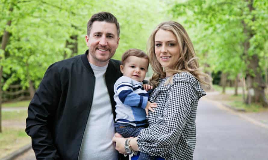 Lauren Marks-Clee with her son, Flynn, and husband, Andrew Clee.
