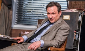 Christian Slater 'has exactly the measure of Ricky Roma' in Glengarry Glen Ross by David Mamet at the Playhouse theatre, London.